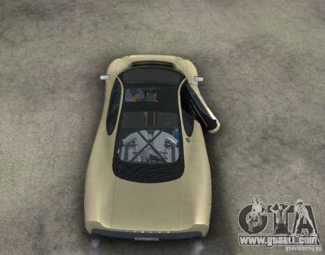 Jaguar XJ 220 Black Rivel for GTA San Andreas inner view
