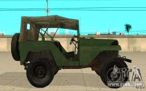 Gaz-64 skin 1 for GTA San Andreas left view