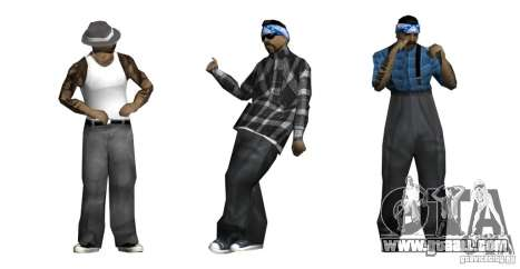 New skin Pack for Rifa gang for GTA San Andreas