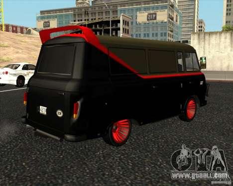 1961-1991 Barkas B1000 for GTA San Andreas back left view