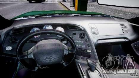 Toyota Supra MKIV 1995 v2.0 Final for GTA 4 back view