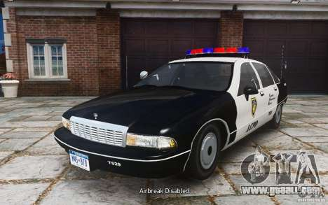 Chevrolet Caprice 1991 Police for GTA 4