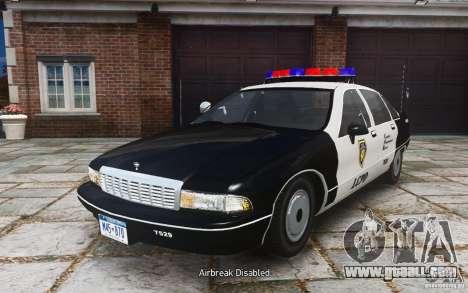 Chevrolet Caprice 1991 Police for GTA 4