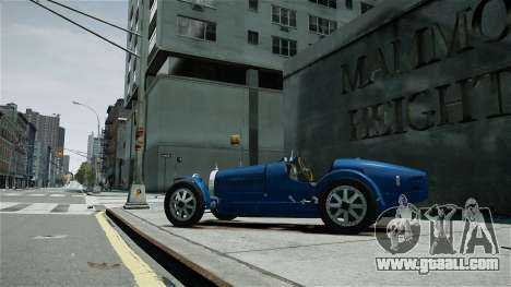 Bugatti Type 35C for GTA 4 left view