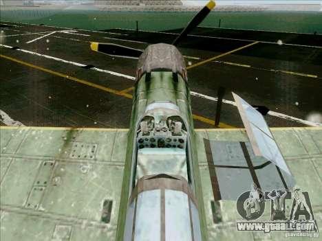 Japanese aircraft for GTA San Andreas inner view