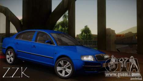 Skoda Superb 2006 for GTA San Andreas inner view