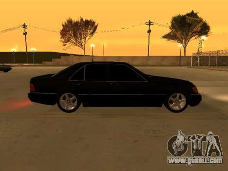 Mercedes-Benz S400 w140 v2.0 for GTA San Andreas back left view
