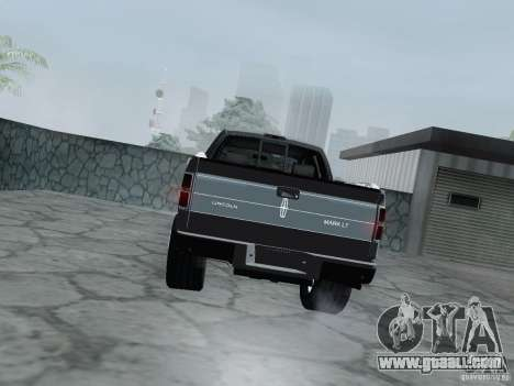 Lincoln Mark LT 2013 for GTA San Andreas right view
