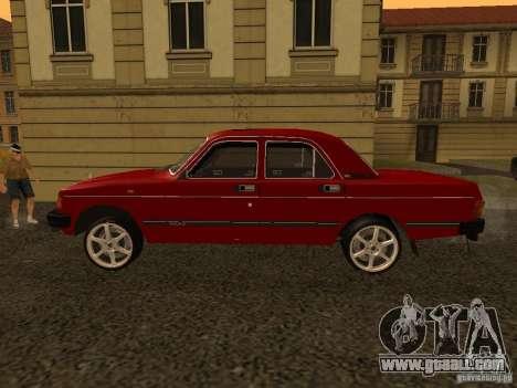 Volga GAZ 31029 Sl for GTA San Andreas back left view
