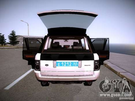 Range Rover Supercharged 2008 Police DEPARTMENT for GTA San Andreas interior