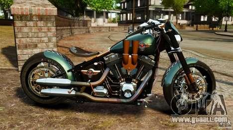 Harley Davidson Fat Boy Lo Racing Bobber for GTA 4 left view