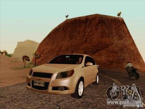 Chevrolet Aveo LT for GTA San Andreas inner view