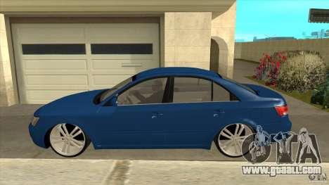 Hyundai Sonata NF for GTA San Andreas left view