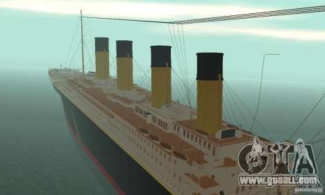 RMS Titanic for GTA San Andreas inner view