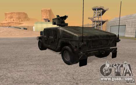 Hummer H1 from Battlefield 3 for GTA San Andreas right view