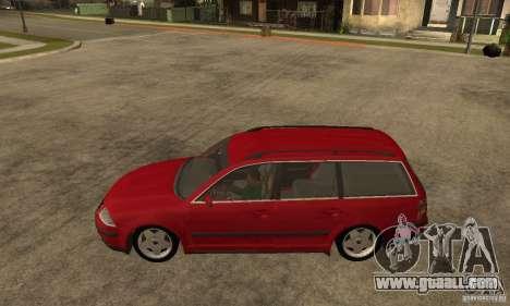 VW Passat B5+ Variant for GTA San Andreas left view