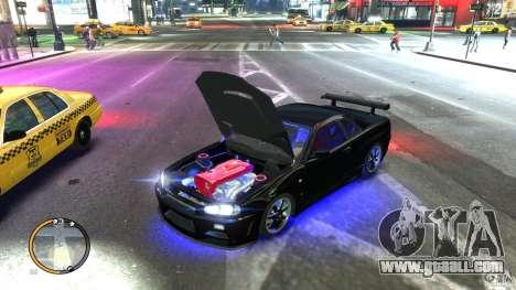 Nissan SkyLine R34 GT-R V-spec II for GTA 4 left view