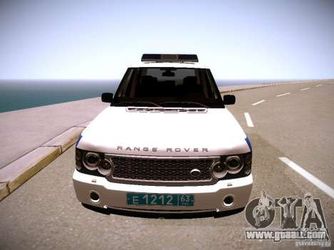 Range Rover Supercharged 2008 Police DEPARTMENT for GTA San Andreas back view