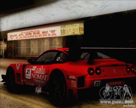 Ferrari 550 Maranello Super GT500 for GTA San Andreas right view