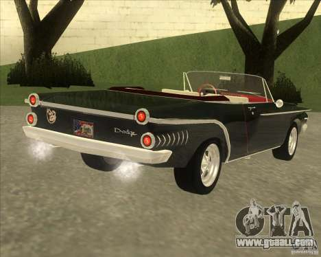 1962 Dodge Dart 440 for GTA San Andreas back left view