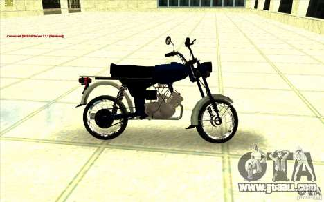 Moped: for GTA San Andreas back left view