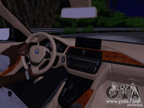 BMW 335i F30 Coupe for GTA San Andreas inner view