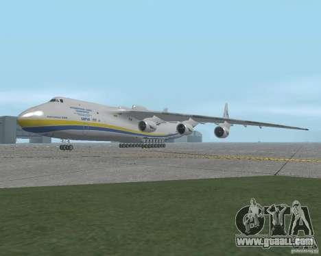 The an-225 Mriya for GTA San Andreas