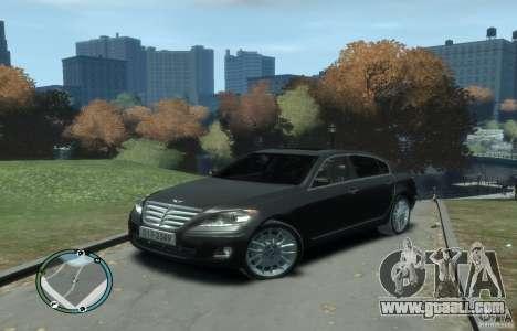 Hyundai Genesis Sedan Elite for GTA 4 left view
