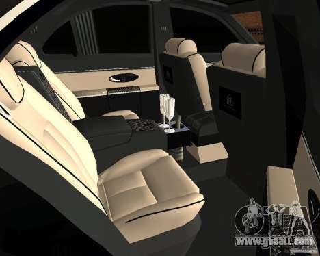 Maybach 57S for GTA San Andreas back view