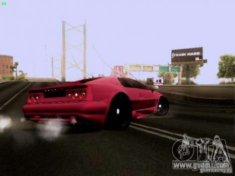 Lotus Esprit V8 for GTA San Andreas back view