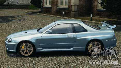 Nissan Skyline GT-R R34 2002 v1.0 for GTA 4 left view
