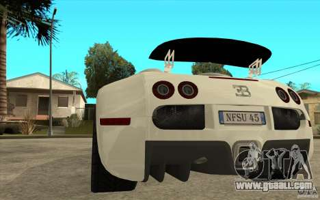 Spoiler for the Bugatti Veyron Final for GTA San Andreas third screenshot