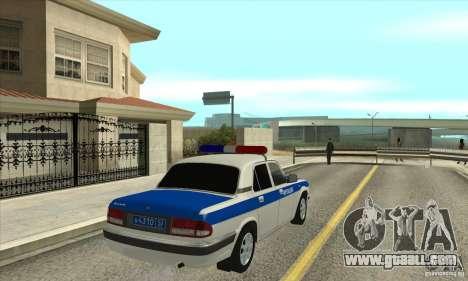 GAZ 31105 Volga DPS for GTA San Andreas right view