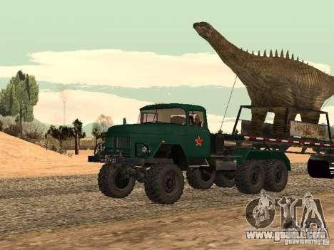Dinosaur Trailer for GTA San Andreas back left view