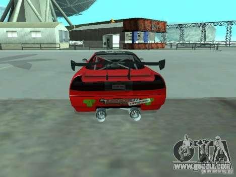 Infernus Drift Edition for GTA San Andreas back left view