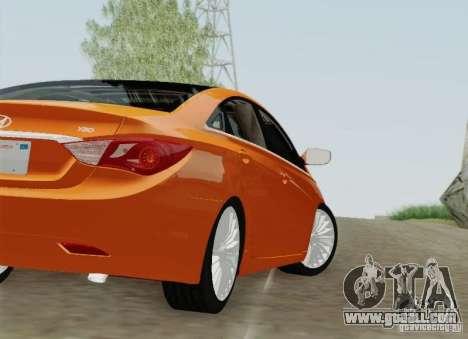 Hyundai Sonata 2012 for GTA San Andreas wheels