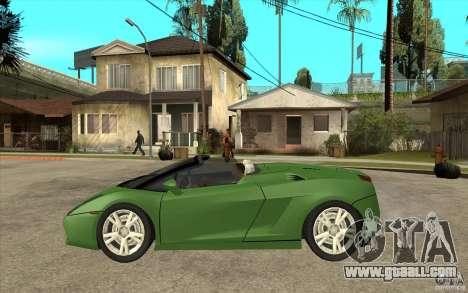 Lamborghini Gallardo Spyder for GTA San Andreas left view