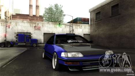 Honda CRX JDM for GTA San Andreas side view