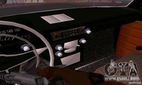 Moskvich 412 for GTA San Andreas inner view