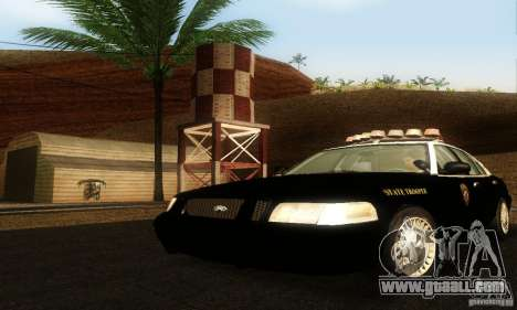 Ford Crown Victoria Wyoming Police for GTA San Andreas