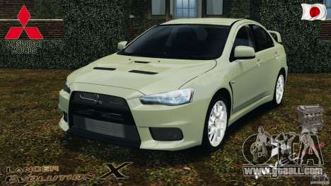 Mitsubishi Lancer Evolution X 2007 for GTA 4