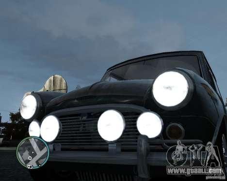 Austin Mini Cooper S for GTA 4 inner view