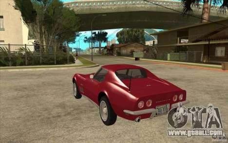 Chevrolet Corvette Stingray for GTA San Andreas back left view