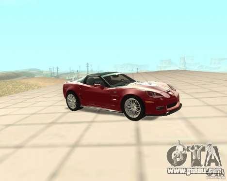 Chevrolet Corvette ZR1 for GTA San Andreas left view