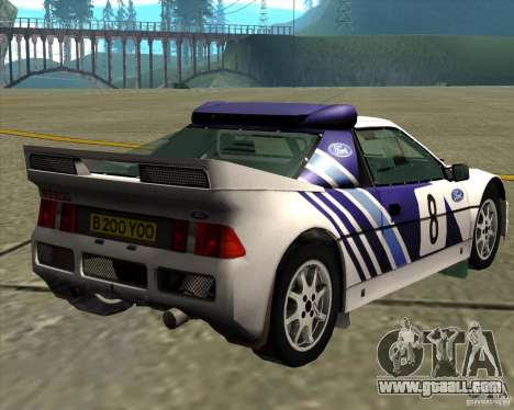 Ford RS200 rally for GTA San Andreas back left view