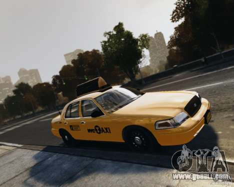Ford Crown Victoria NYC Taxi 2012 for GTA 4 side view