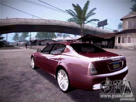 Maserati Quattroporte 2010 for GTA San Andreas right view
