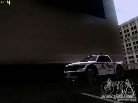 Ford Raptor Royal Canadian Mountain Police for GTA San Andreas left view