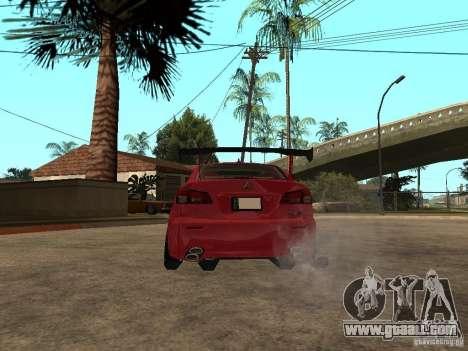Lexus Drift Car for GTA San Andreas back left view