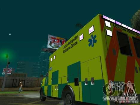 London Ambulance for GTA San Andreas side view